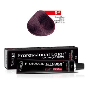 Coloração Yamá Creme Professional Color Nano Infusion 8.26 Louro Claro Irisado Avermelhado Marsala