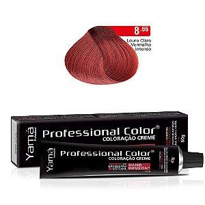 Coloração Yamá Creme Professional Color Nano Infusion 8.66 Louro Claro Vermelho Intenso