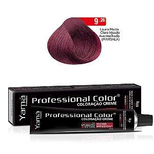Coloração Yamá Creme Professional Color Nano Infusion 9.26 Louro Muito Claro Irisado Avermelhado Marsala