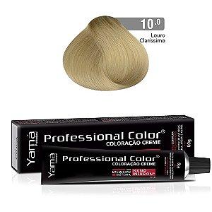 Coloração Yamá Creme Professional Color Nano Infusion 10.0 Louro Claríssimo