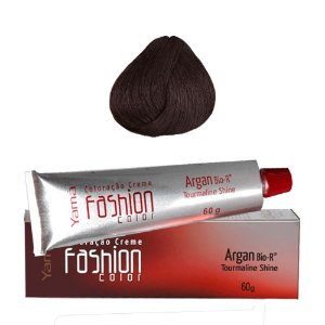 COLORAÇÃO YAMÁ FASHION COLOR ARGAN N. 4.44 CASTANHO ACOBREADO INTENSO (60g)