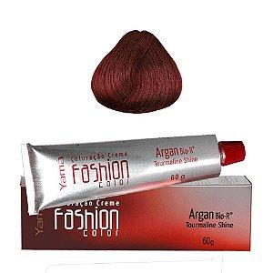 Coloração Yamá Fashion Color Argan N. 6.66 Louro Escuro Vermelho Intenso  60g