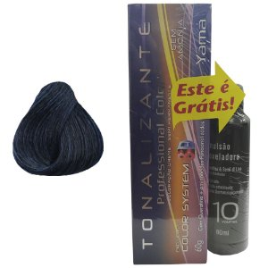 Pack  Tonalizante 3D N. 1.1 + Emulsão Professional Color 10Vol 60ml