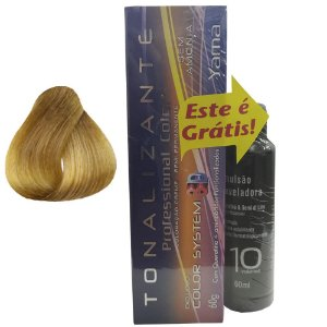 Pack  Tonalizante 3D N. 8.0 Louro Claro + Emulsão Professional Color 10Vol 60ml