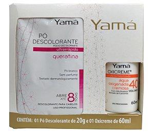 KIT PROMOCIONAL PÓ DESCOLORANTE (20G) + ÁGUA OXIGENADA CREMOSA YAMÁ DE 40VOL. (60ML)
