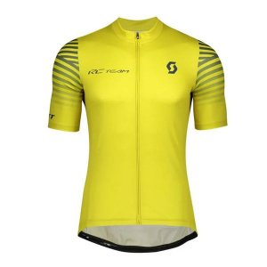 Camisa Ciclismo Scott RC Team 10 - Amarelo e Preto