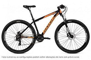 Bicicleta MTB Kode Active - Shimano Tourney 21v - Preta e Laranja