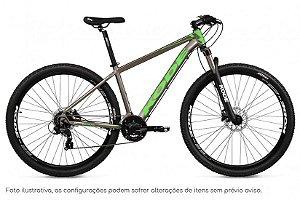 Bicicleta MTB Kode Izon - Shimano Tourney 24v - Prata e Verde