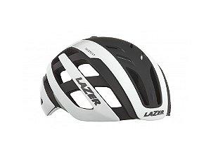 Capacete Ciclismo Lazer Century c/ Led - White / Black