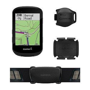 Ciclocomputador com GPS Garmin Edge 530 Bundle com Monitor Cardíaco e Sensores de Velocidade e Cadência