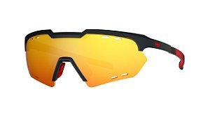 Óculos HB Shield Small Mountain - Gloss Black / Multi Red