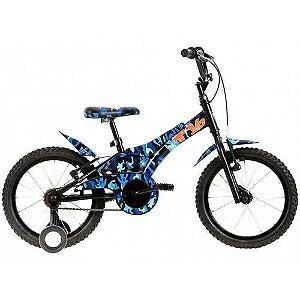 Bicicleta Infantil Groove T16 Camuflada Aro 16 - Verde ou Azul