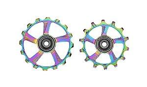 Polia Roldana de Câmbio Token 12v Oversized Plus Rainbow Tiramic (Cerâmico)