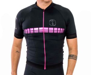 Camisa Ciclismo AHAU Racing Pink - Masculina