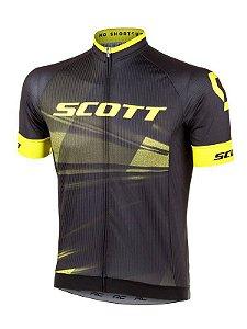 Camisa Ciclismo Scott RC Pro 2020 - Preto Amarelo