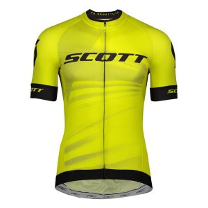 Camisa Ciclismo Scott RC Pro 2020 - Amarelo Preto