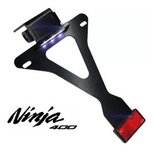 Suporte Placa Eliminador Fixo Premium Kawasaki Ninja 400/Z400