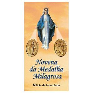 Folheto de oração da Novena da Medalha Milagrosa (com 10 unidades)