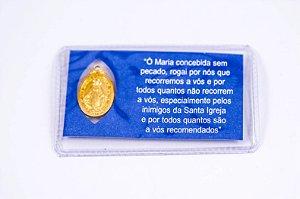 Medalha Milagrosa com oração - Plastificada
