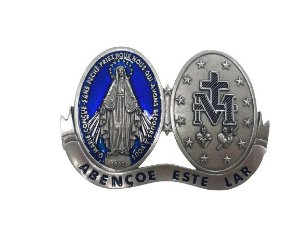 Medalhão Devocional Medalha Milagrosa - Abençoe este lar