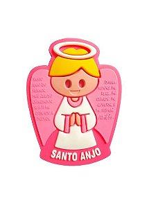 Imã Borracha Santo Anjo Pink