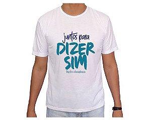 Camiseta Adulto Diga Sim 2020 *QUEIMA ESTOQUE!*