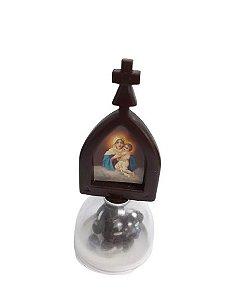 Adorno com dezena Ícone Maria mãe de Deus