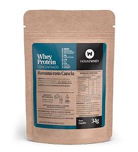 WHEY PROTEIN CONCENTRADO - BANANA COM CANELA - caixa com 15 sachês de 34g