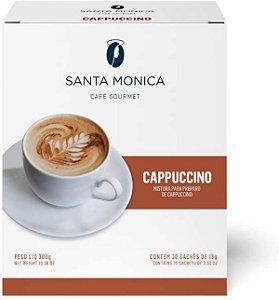 Cappuccino Monodose Santa Monica - 20 sachês de 15g cada