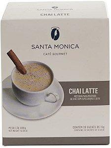 Chai Latte Monodose Santa Monica - 20 sachês de 15g cada