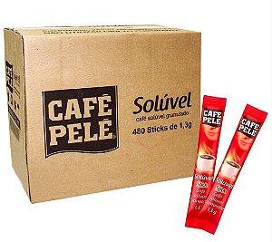 Café Solúvel Pelé Sticks 1,3g - Caixa c/ 480 unid.