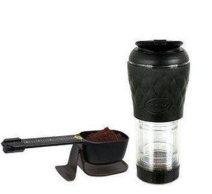 KIT - Cafeteira Preta 350 ml + Dose Certa Balança - Pressca