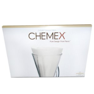 Filtro de papel Chemex Meia Lua Branco 100 unidades - para 3 xícaras