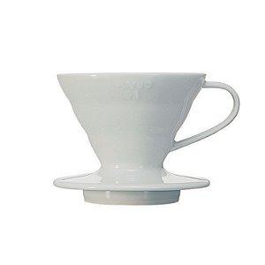 Coador Hario V60 Cerâmica Branco Tamanho 01