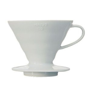 Coador Hario V60 Cerâmica Branco Tamanho 02
