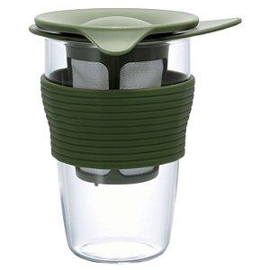 Infusor de Chá Médio Hario - Verde Oliva - 350ml