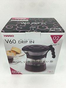 Conjunto para Coar Café Hario V60 Drip in - Preto 700ml