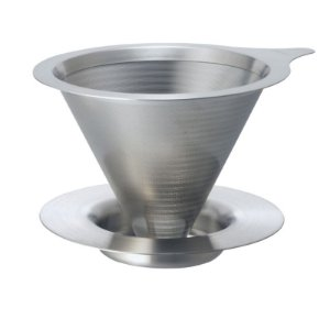 Coador de Café c/ Filtro Permanente - Parede Dupla - Tam.02 - Hario