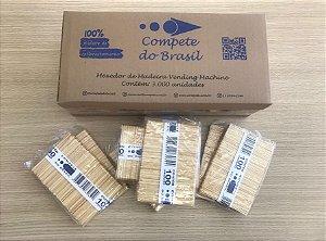 Palhetas Italianas de Madeira ( Vending Machines ) / Mexedores - Cx. c/ 3.000 unid.