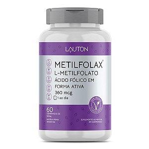 Metilfolax - Metilfolato de Cálcio - Pote com 60 capsulas de 360mcg