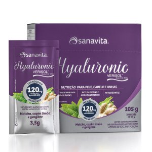 Hyaluronic Verisol 120mg - Matcha, Capim e Gengibre - Caixa com 30 sachês