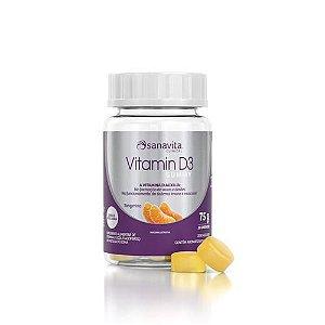 Vitamin D3 Gummy Tangerina 30 Capsulas