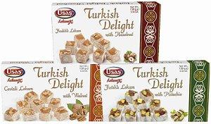 Delícia Turca  (158g cada) - Combo com 3 sabores (1 Avelã, 1 Nozes e 1 Pistache)