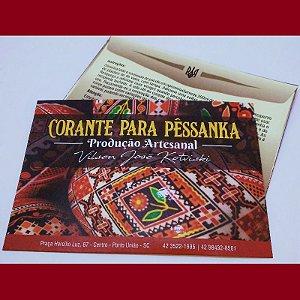 Tinta para pêssanka - corante VERMELHO BORDÔ