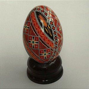 pêssanka em ovo de gansa - laranja, trigos
