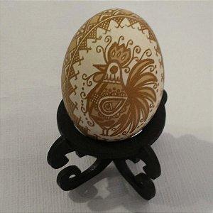 Pêssanka em ovo de galinha - GALO