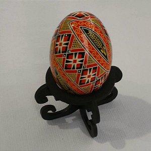 Pêssanka em ovo de galinha - GEOMÉTRICO, TRIGO