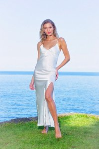 Slip Dress White