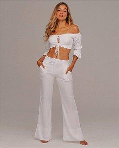 Calça Pantalona All White
