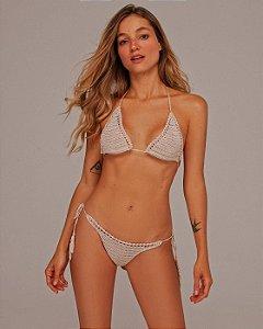 Bikini Franjas Crochet Cru